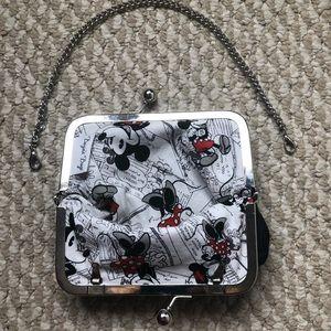 Black (Hidden Mickey Mouse Pattern) Clutch/Purse